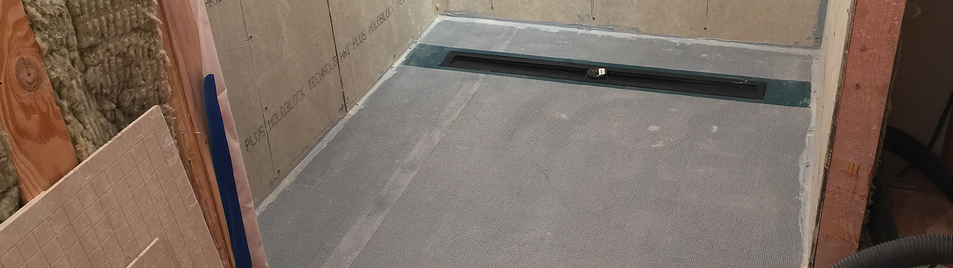 Linear Drain ShowerSlope™ | KBRS Shower Systems