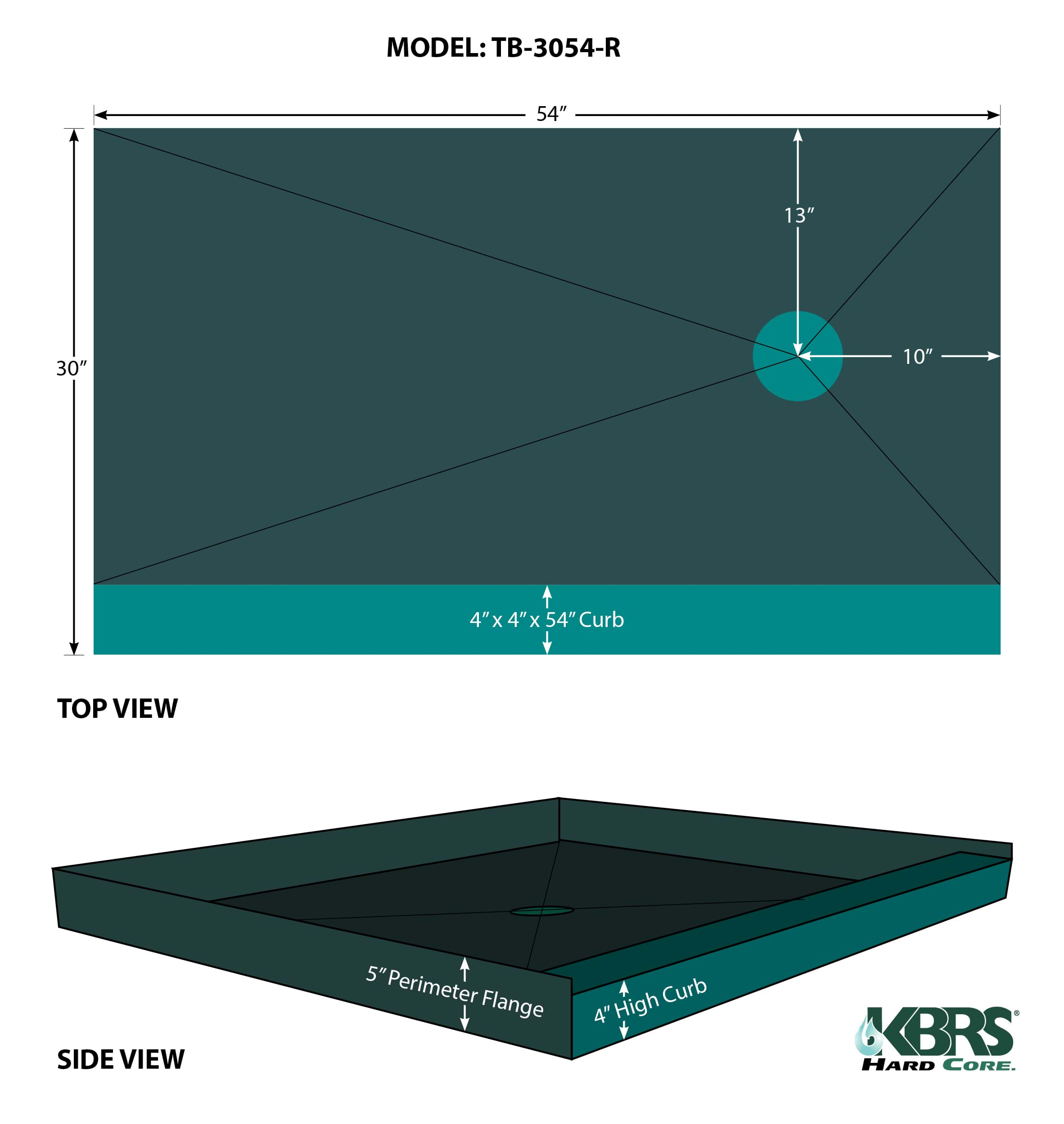 Point Drain Tile Basin 174 Kbrs Shower Systems